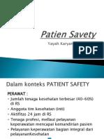 Patien Safety Pertemuan 1