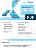 Visual Analytics Using Tableau-Class 3