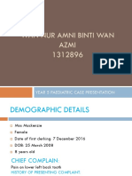 Paeds Amni Case Presentation
