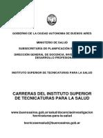 Cuadernillo Informativo Sobre Carreras Tecnicas en Salud