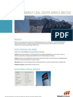 Product Spec Energy Coal South Africa