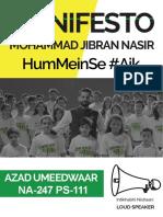 M Jibran Nasir - Manifesto