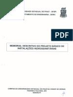 Memorial Descritivo HIDROSSANITÁRIO Da Internet
