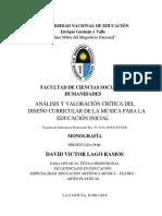 I. PASTA Jurado Dedicatoria e Indice de La Monografia