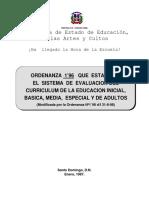 Ordenanza 1'96 Sistema de evaluación del curriculum de la educación inicial, básica, media, especial y de adultos(3).pdf