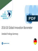 2016 GE Global Innovation Barometer - Germany Summary
