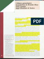 2004 - Donati - L'Albero Genealogico Benedettino Di Arnoldo Wion