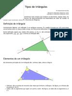 Tipos de Triângulos - Matemática - InfoEscola