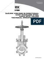 Dezurik Cast Stainless Steel Knife Gate Valves Kgn Rsb Kgn Msu Kgn Rsb Resilient Seated Technical 29-00-1d