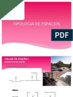 TIPOLOGIA DE ESPACIOS