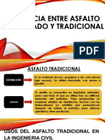 Exposición Asfalto Tradicional vs Asfalto Modificado