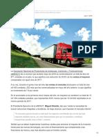 Venta de Camiones Caen 20.6% en Mayo- Anpact