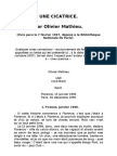 Olivier Mathieu, UNE CICATRICE récit paru en 1997