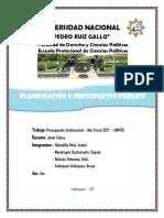 Presupuesto Institucional Unprg (523)
