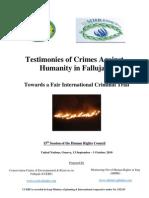 Testimonies of Crimes Against Humanity in Fallujah