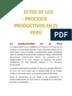 Efectos de Los Procesos Productivos en El Perú