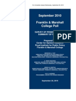 Franklin and Marshall College Poll Release-Pa State-09!29!10