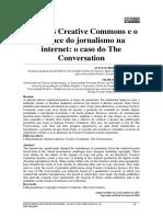 Licenças Creative Commons e o alcance do jornalismo na internet