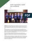 JUEVES MINERO Exponen Sobre Seguridad y Salud Ocupacional en Minería