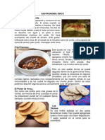 Gastronomía y Musica Xinca
