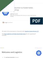 Introduction to Kubernetes - KubeCon Slide Deck