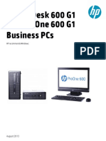 HP ProDesk and ProOne 600 G1 Datasheet