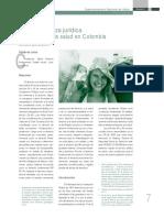 Naturaleza Juridica Derecho Salud Colombia