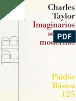 Charles Taylor. Imaginarios sociales