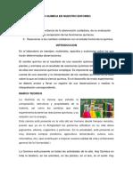 La Quimica en Nuestro Entorno Informe 4