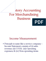 EMBA-Inventory Accounting for Merchandizing & Manufacturing Firms