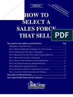 How to Selec a Sales Force That Sells