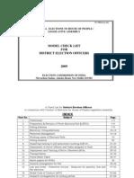 DEO Checklist