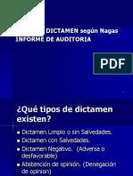Tema 15 Tipos Dictamen Segun Nagas Notas a Los Ef