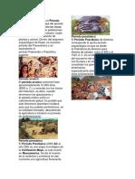 Periodo Lítico,Clasico,Posclasico y Preclasico