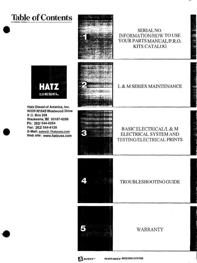 c563b8ab213 LeeBoy Hatz Engine Service Electrical Sytem Manual