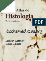 Texto Atlas de Histologia Gartner Hiatt 3a Edición