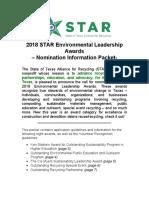 2018 TELA Awards Information