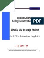 BM3805 Unit 02 BIM for Design Analysis