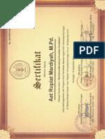 Sertifikat Workshop Metodologi Penelitian Pendidikan 18 Des 17