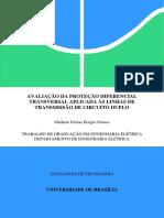 Avaliação Da Proteção Diferencial Transversal Aplicada Às Linhas de Transmissão de Circuito Duplo