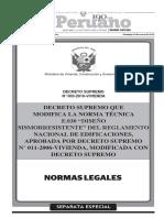 Norma Sismo resistente Perú