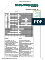 Crossword Puzzle Games - Create Your Own