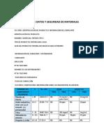 Ficha de Datos y Seguridad de Materiales
