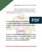 Vision y Mision de La Escuela de Economia