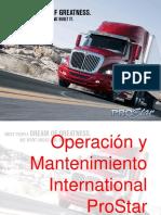 Operación y Mantenimiento ProStar.