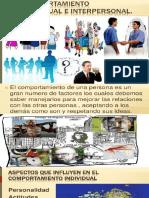 Comportamiento Individual y Interpersonal 2018