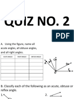 Quiz No.2 Kinds of Angles