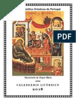 Calendário Litúrgico Ortodoxo 2018