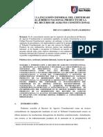 Posibilidad de inclusión del Certiorari en nuestro Sistema Jurídico producto de la redimensión del Recurso de Agravio Constitucional