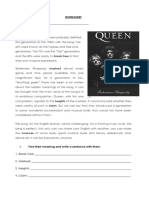 Bohemian Rhapsody Activities Promoting Classroom Dynamics Group Form 51260